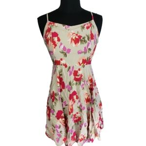 4/$24 Old Navy Lined Sun Dress Beige Floral